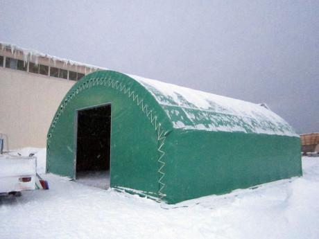 テント倉庫完成
